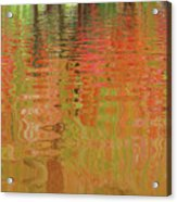 Autumn Reflections Abstract Acrylic Print