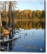 Autumn Reflections On Little Bass Lake Acrylic Print