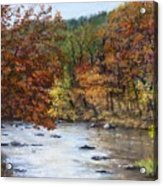 Autumn River Acrylic Print by Jack Skinner