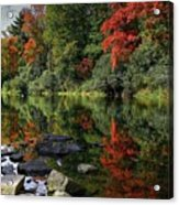 Autumn River Landscape Acrylic Print