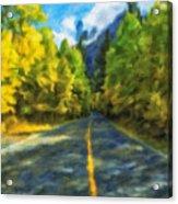 Autumn Road Acrylic Print