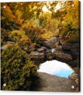 Autumn Rock Garden Acrylic Print
