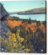 Autumn Rocks Booth's Rock Lookout Acrylic Print