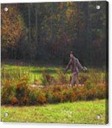 Autumn Scarecrow Acrylic Print