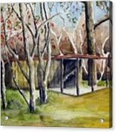 Autumn Shed Acrylic Print