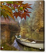 Autumn Souvenirs Acrylic Print by Debra and Dave Vanderlaan