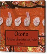 Autumn Spanish Acrylic Print