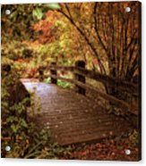 Autumn Splendor Bridge Acrylic Print