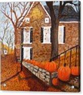Autumn Stone House Acrylic Print