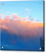 Autumn Storm Clouds And Sunset Acrylic Print
