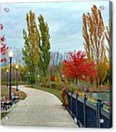 Autumn Stroll In The Park Acrylic Print