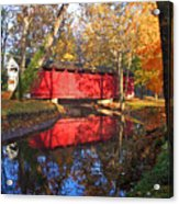 Autumn Sunrise Bridge II Acrylic Print