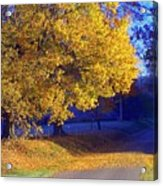 Autumn Sunrise In The Country Acrylic Print
