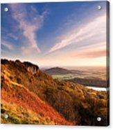 Autumn Sunset At Sutton Bank Acrylic Print