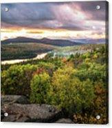 Autumn Sunset In The Catskills Acrylic Print