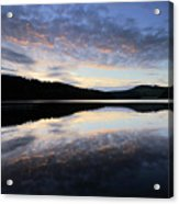 Autumn Sunset, Ladybower Reservoir Derwent Valley Derbyshire Acrylic Print