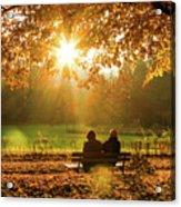 Autumn Sunshine In The Lichtentaler Allee. Baden-baden. Germany. Acrylic Print
