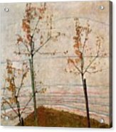 Autumn Trees Acrylic Print by Egon Schiele