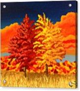 Autumn Twins Acrylic Print