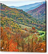 Autumn Valley Acrylic Print