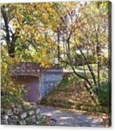 Autumn Walk In The Park Acrylic Print