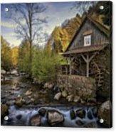 Autumn Water Wheel Acrylic Print