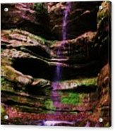 Autumn Waterfall I Acrylic Print