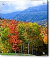 Autumn White Mountains Nh Acrylic Print
