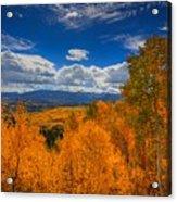 Autumn Wildfire At Ohio Pass Acrylic Print