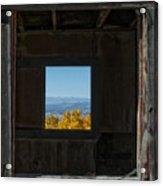 Autumn Windows Acrylic Print by Barry C Donovan
