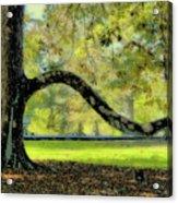 Autumns Bench Acrylic Print