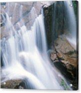 Avalanche Falls Flume Gorge Acrylic Print