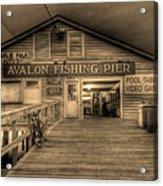 Avalon Fishing Pier Acrylic Print