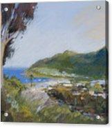 Avalon Harbor - Taking The High Road Catalina Island Oil Painting Acrylic Print