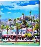 Avalon Waterfront, Catalina Acrylic Print