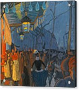 Avenue De Clichy. Five O'clock In The Evening Acrylic Print
