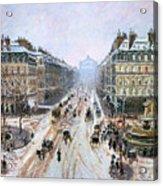 Avenue De L'opera - Effect Of Snow Acrylic Print