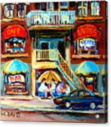 Avenue Du Parc Cafes Acrylic Print