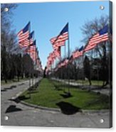 Avenue Of 444 Flags Acrylic Print