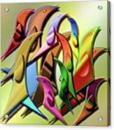 Aviary In Harmony Acrylic Print