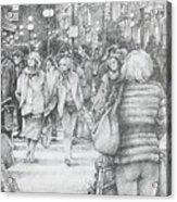 Avignon Shoppers Acrylic Print