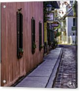 Aviles Street The Oldest Street In The Usa Acrylic Print