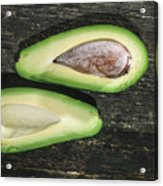 Avocado On Wood Acrylic Print