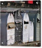 Awaiting Mail Also Acrylic Print