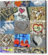 Awesome Hearts - Collage Acrylic Print