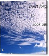 Awesome Sky And Cloud Formation Acrylic Print