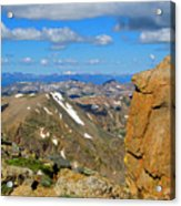 Awesome View From The Mount Massive Summit Acrylic Print