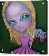 Ax Girl Acrylic Print