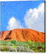 Ayers Rock Acrylic Print