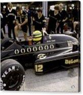 Ayrton Senna. 1986 German Grand Prix Acrylic Print